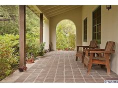 Spanish styled porch