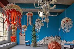 "Angela Haseltine Pozzi created ""Washed Ashore"" from plastic on the beaches of Oregon"