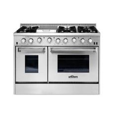 Thor Kitchen 48 in. 6.7 cu. ft. Professional Gas Range in Stainless Steel-HRG4808U - The Home Depot