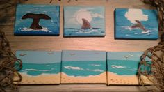 Check out this item in my Etsy shop https://www.etsy.com/listing/213159119/fins-up-set-of-3-mini-canvas-original
