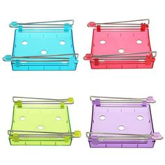 Fridge Space Saver Organizer Table Pull out Drawer Holder Partition Shelf Rack