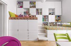 Dětský pokoj rodiče vytvořili pro dvě děti a vybavili jej nábytkem zhotoveným...