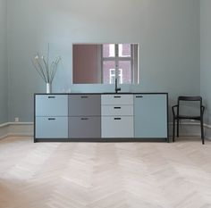 &shufl - our brand new showroom. &shufl laminate kitchen in the green…