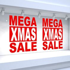 Details about 2 x mega xmas sale shop window vinyl stickers christmas retail decals Shop Display Stands, Shop Window Displays, Reverse Mirror, Window Signage, Writing A Research Proposal, Essay Prompts, English Fun, Retail Windows