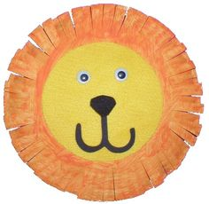 preschool art projects: when learning about animals they could make these plate lions! They work on their cutting skills by cutting the mane. And they work on coloring by doing the rest. Then explain to them things that lions do or eat and what types of animals are similar. Maybe make these along with a book about a lion.