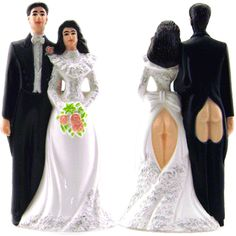Stupid.com: Sexy Butts Wedding Cake Topper