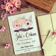 Davetiye / Wedding invitation www.masalsiatolye.com #masalsiatolye #davetiye #weddinginvitation Alphabet, Wedding Photos, Wedding Invitations, Ankara, Watercolour, Valentines Day Weddings, Invitations, Weddings, Cards