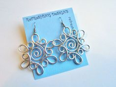 Snowflake - Wire Earrings -  Customize your Color