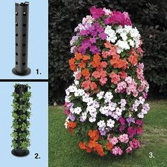 Tower of Flowers by Apollo International. $39.99. Beautiful blooms rise 3 feet high. Transport with top handle. Creates a natural, eye-popping outdoor display. Recycled poypropylene; 6 1/2 x 33 3/4 inches. Holds 30 nursery sized plants. Beautiful blooms rise 3' high! Flower tower planter creates a natural, eye-popping, 3' outdoor display filled to the brim with radiant blooms, fruits, veggies, or herbs for dressing up a deck, patio, porch, poolside. Holds 30 nursery sized ...