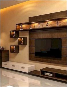 Tv wall decor, tv wall design и interior design kitchen. Tv Cabinet Design, Modern Tv Wall Units, Home Room Design, Living Room Design Modern, Living Room Designs, Tv Unit Interior Design, Tv Wall Design, Tv Room Design, Room Design