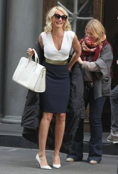 """Actresses Cameron Diaz and Leslie Mann film scenes for their new film """"The Other Woman on May 6, 2013 in New York City, New York."""