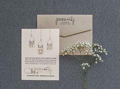 styling inspiration // Blush Pink Mason Jar Wedding Save the Date Card - Jessica and DJ- Custom Colors