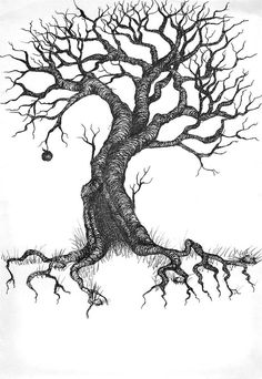 tree drawing tattoo - Google Search