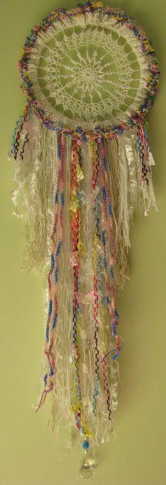 Dreamcatcher Wall Hanging Lollipop Rainbow  by Spiritcraft1955, $55.00