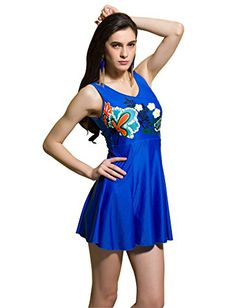 Kaisifei Flower World Female Trumpeter One-piece Swimsuit Swimwear Beach Dress (M, Blue) Kaisifei http://www.amazon.com/dp/B010NWHUUC/ref=cm_sw_r_pi_dp_zWmPvb1B5ZC7X
