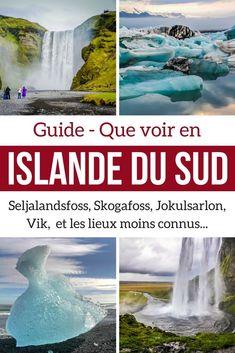 Découvrez les magnifiques paysages d'Islande du Sud avec les principaux lieux d'intérêt tels que les cascades de Seljalandsfoss et Skogafoss our le lagon glaciaire de Jokulsarlon. #Islande #Voyage #Guide #Information #Roadtrip #Cascades #Seljalandsfoss #Skogafoss #Lagon #Jokulsarlon