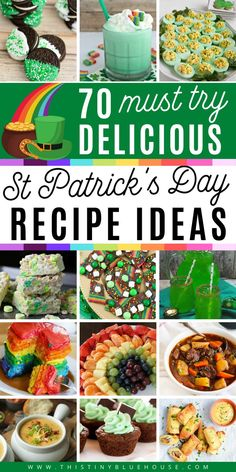 Celebrate St Patrick's Day with these fun, easy and delicious St Patrick's day recipes and food ideas. From soups and stew to sweets and treats there are 70 recipes to pick from! #stpatricksday #stpatricksdayfood #stpatricksdayrecipes #stpatricksdaydinnerideas #stpatricksdayfoodideas #stpatrickdsdaydesserts