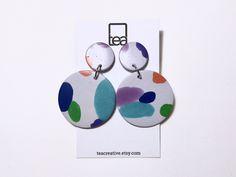 SPOTTY   Polymer Clay Earrings by TeaCreative on Etsy https://www.etsy.com/au/listing/559006991/spotty-polymer-clay-earrings