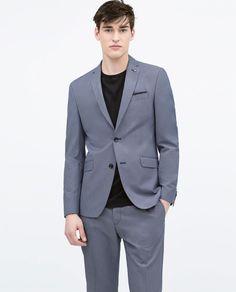 Blue microdot jacket. Blue. $169