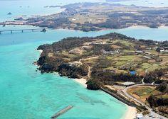 Flying over Okinawa