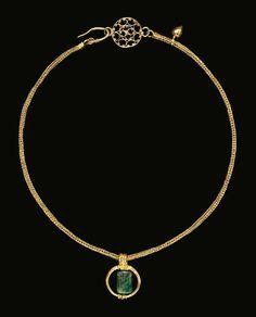 Kolye-Altın Zümrüt. Roma Dönemi MS 3-4. yy