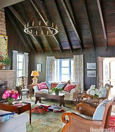 Colorful cozy living room.