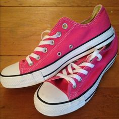Pink Converse. Pink converse. Brand new, never worn. Still have the box. Converse Shoes Sneakers