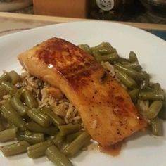 Salmon with Brown Sugar and Bourbon Glaze - Four ingredients are all you need to make this incredibly flavored glazed salmon.