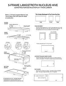5 Frame Nuc Beehive Plans Langstroth Hive Plans Framed Bee Bee Hive Plans