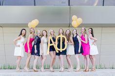 Gold Letters! Regan Shorter Photography #alphaphi #sisters #aoe