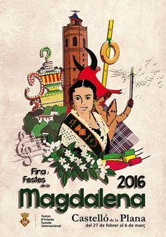 Propuesta cartel anunciador de las fiestas de la Magdalena 2016 de Castellón de la Plana