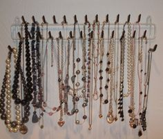 Belt rack to hang necklaces