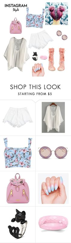 """""""Pink glitter"""" by elpseny ❤ liked on Polyvore featuring Jeffrey Campbell, Miu Miu, Moschino, 60secondstyle and PVShareYourStyle"""