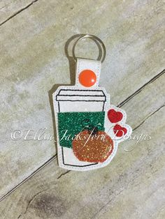 A personal favorite from my Etsy shop https://www.etsy.com/listing/467102696/pumpkin-spice-latte-keychain