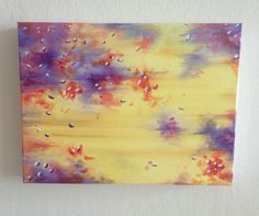 Autumn Abstract Painting, Acrylic on Canvas by JessicaFraserArt on Etsy