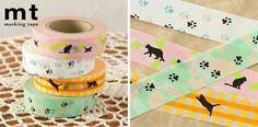 Decorative Japanese Masking Tape Featuring Cat Designs