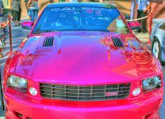 Hot Pink Mustang Convertible