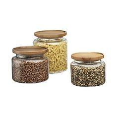 Montana Acacia and Glass Jars love these for my pastas.. need about 6 more