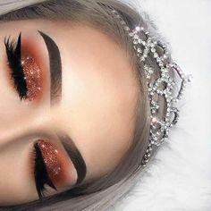 Gorgeous Makeup: Tips and Tricks With Eye Makeup and Eyeshadow – Makeup Design Ideas Glam Makeup, Bronze Makeup, Cute Makeup, Gorgeous Makeup, Pretty Makeup, Skin Makeup, Eyeshadow Makeup, Makeup Inspo, Eyeliner