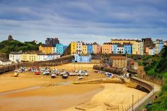 Even on a chilly autumn day the seaside town of Tenby is idyllic