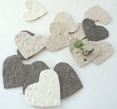 Samen Paper Hearts  Creme weiß Elfenbein braun diy von naturefavors, $29.95
