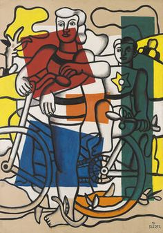 Fernand Leger The Two Cyclists, Mother and Child Modern Pop Art, Contemporary Art, Framed Canvas Prints, Art Prints, Oil Painting Reproductions, Still Life Art, Mother And Child, Art Plastique, Sculpture