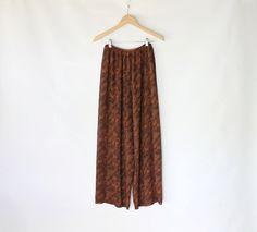 70s Sheer Leopard Print Pants // VAUX