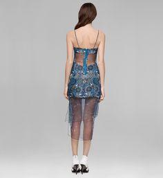 MANDALA WET PRINT DRESS