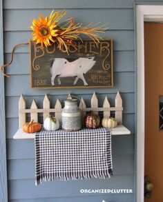 Fall  Outdoor Decor - Dollar Tree pumpkins