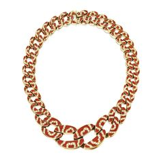 18 Karat Gold, Coral and Diamond Necklace, Bulgari Bulgari Jewelry, Gemstone Jewelry, Gold Jewelry, Jewellery, Italian Jewelry, High Jewelry, Bvlgari, Silver Bracelets, Round Diamonds