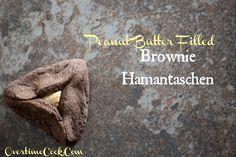 Peanut Butter Filled Brownie Hamantaschen