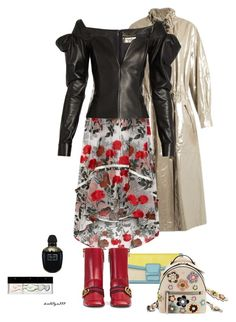 """Love potion"" by katelyn999 ❤ liked on Polyvore featuring Ganni, Gucci, Yves Saint Laurent, Alexander McQueen and Starck Paris"