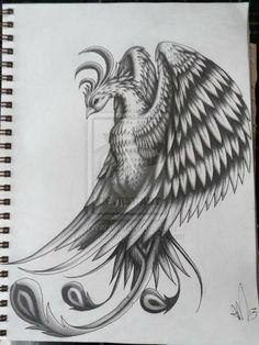 Pheonix Tattoo Design by ~scribilitary on deviantART...LOVE #tattoo| http://tattoo-design-301.kira.lemoncoin.org
