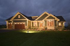 Traditional House Plan First Floor for Home Plan also known as the Gavin Craftsman Ranch Home from House Plans and More. Craftsman Ranch, Craftsman Style House Plans, Ranch House Plans, Country House Plans, House Floor Plans, Craftsman Interior, Rambler House Plans, The Plan, How To Plan